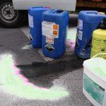 Bindemittel Power-Safe nimmt chemikalien auf mit Dammbildung
