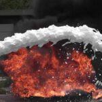 umweltfreundliches Schaumlöschmittel ifoam löscht Flammen